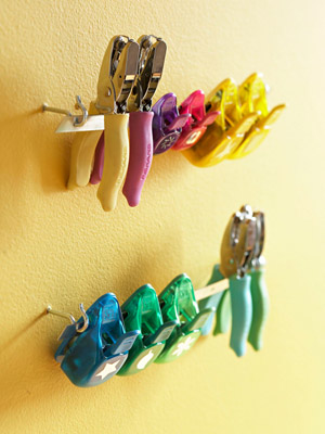 hole punchers on wall