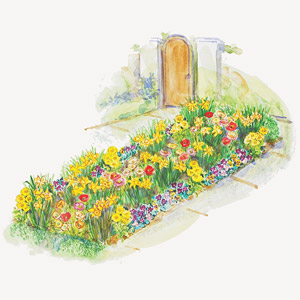 Small-Space Spring Show Garden Plan Illustration