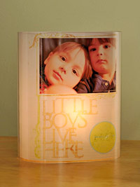 light box with picture