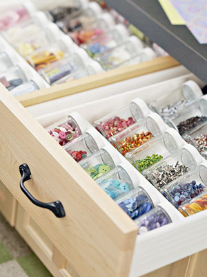drawer of embellishments