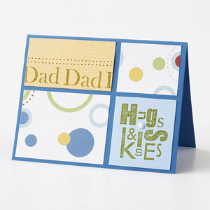Hugs and Kisses Fathers Day Card
