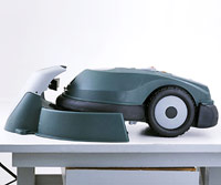 Robotic, battery-powered lawn mower
