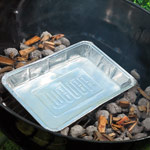 indirect grilling pan with chips for smoking