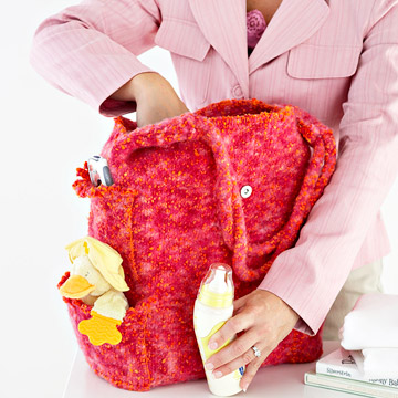 Preview This Free Knitting Pattern: Easy Diaper Bag