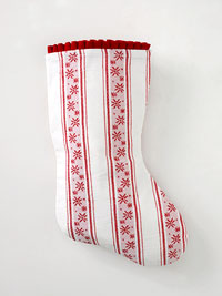 white and red stocking