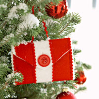 red and white holder in tree