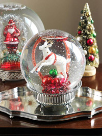 antique-looking snow globe