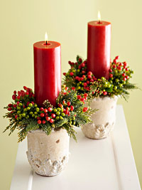 two red pillar candles