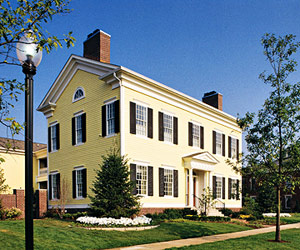 gallery for yellow stucco houses with white trim