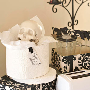 Halloween Wedding Party Gift Table