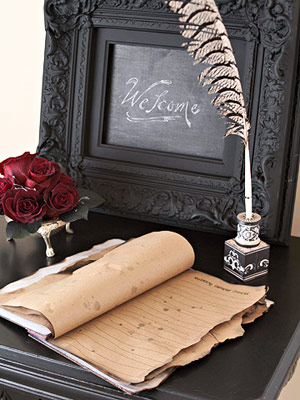 Halloween Wedding Guest book
