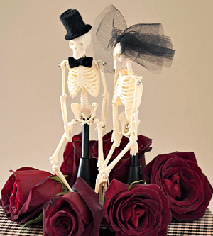Halloween Wedding Party Cake Toppers