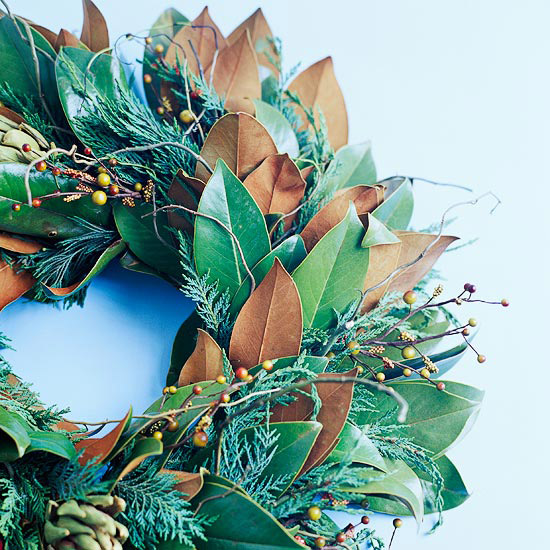 Green and Brown Leaf Wreath
