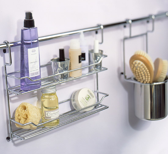 Hanging metal shelf