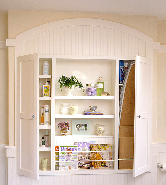 Built-in shelf