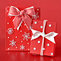 gifts with large snowflakes