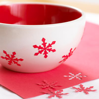 Red and white snowflake detail