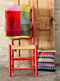 Chairs w/ quilt and pillow