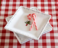 holiday plates with candy canes