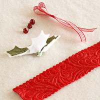 Holly leaf napkin holder how to