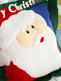 santa pillow - detail
