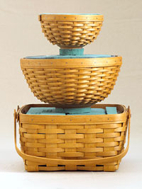 Creating the 3-basket centerpiece