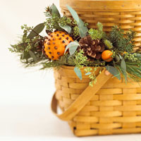 3-basket centerpiece close-up