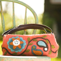 pink felted bag