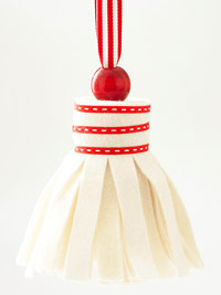 White tassel ornament
