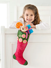 Girl with pink stocking