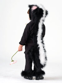 girl in skunk costume