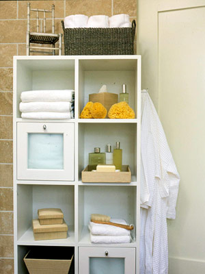 Cube shelf storage
