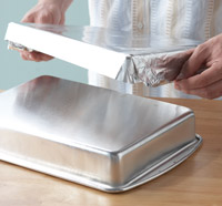 Lining pan with foil