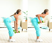 bent-over row 1, bent-over row 2