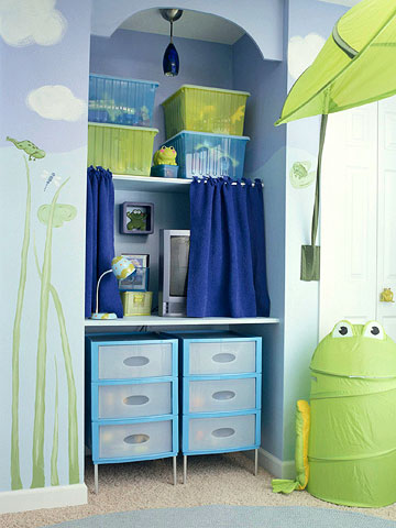 Blue and Lime Kids Room