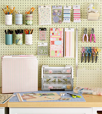 Craft Ideas Pinterest on Friday Pinterest Round Up  Office Craft Room Ideas   Debbie Does