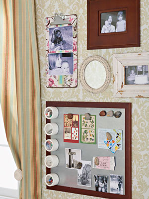 Magnetic Board with photographs