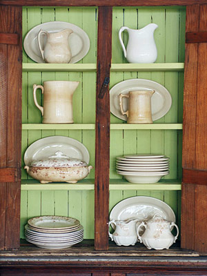 china hutch with green backing