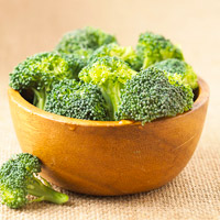 Broccoli florets in bowl