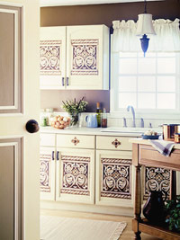 Brown/White Kitchen
