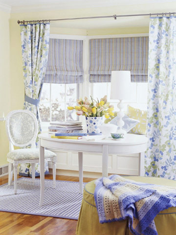 floral window treatment