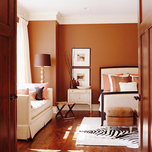 brown room