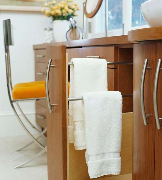 hidden towel racks