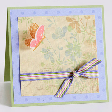 Mother's Day card with butterfly
