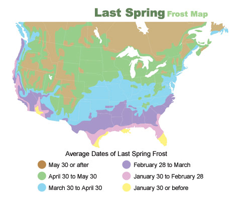 Last Spring Frost Map