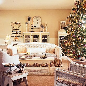 Living room wide in white