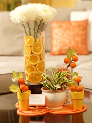 orange tablesetting
