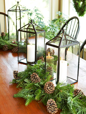 Centerpiece of lanterns