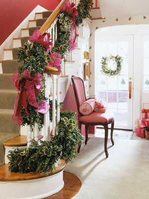 staircase garland