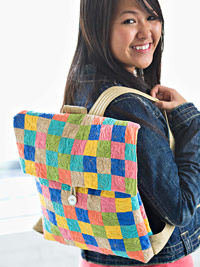 girl with tote